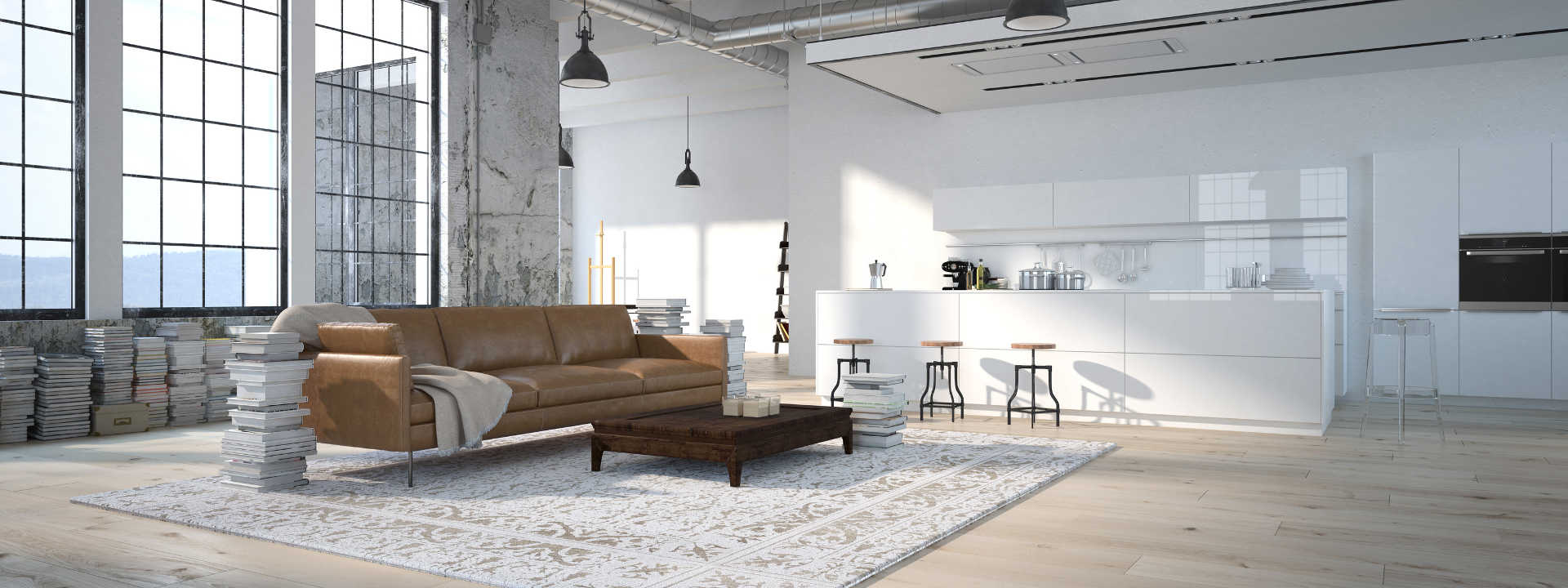christian-fexer-immobilien-wuerzburg-loft-braune-couch-weisse-kuechenzeile